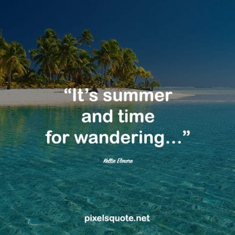 Happy Summer Quote.