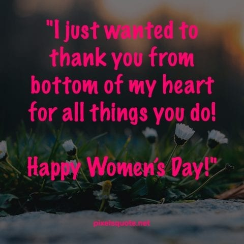 Happy Womens Day.
