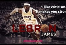 Lebron James Strong Quotes.
