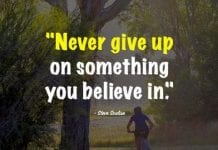 Never Give Up Quotes.