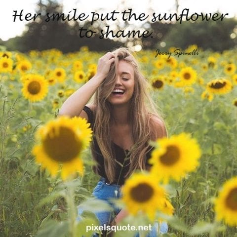 Short Sunflower Quote.