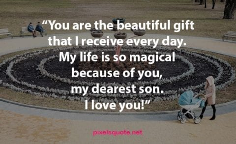 Dearest Son Quote from mom
