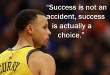 Stephen Curry Quote about Success.