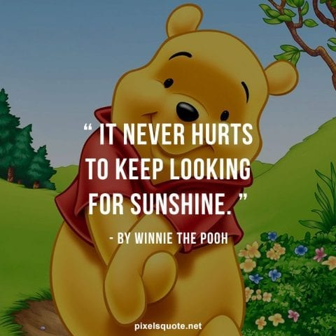 Winnie the Pooh quotes.